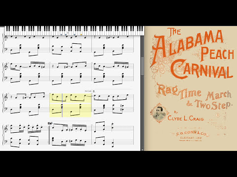 The Alabama Peach Carnival by Clyde Craig (1898, Ragtime piano)