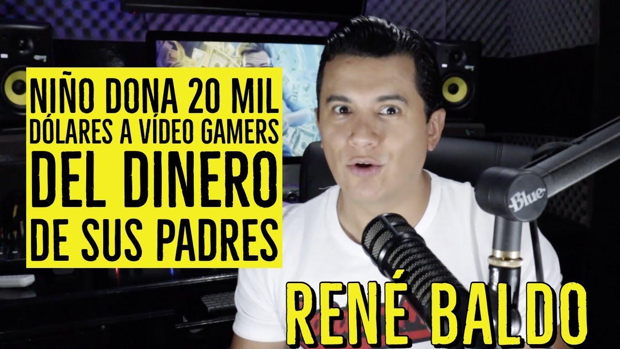 UN CHICO DONA 20 MIL DOLARES A GAMERS DEL DINERO DE SUS PADRES