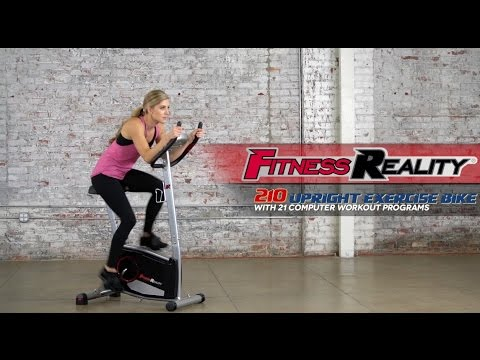 2110 - Fitness Reality 210 Upright Exercise Bike with 21 Computer Workout Programs
