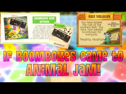 If there were BOOMBOXES in Animal Jam...