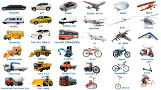 100 Different Types of Vehicles in English