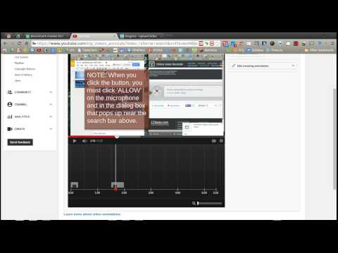 How to add soundtrack & annotation to uploaded YouTube video.webm