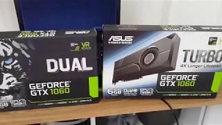 Какая видеокарта лучше для майнинга Asus GTX 1060 DUAL или Asus GTX 1060 TURBO