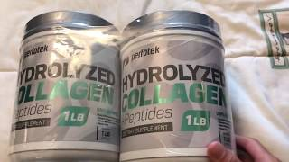 2 Pack Hydrolyzed Collagen Powder 1 Pound by Perfotek
