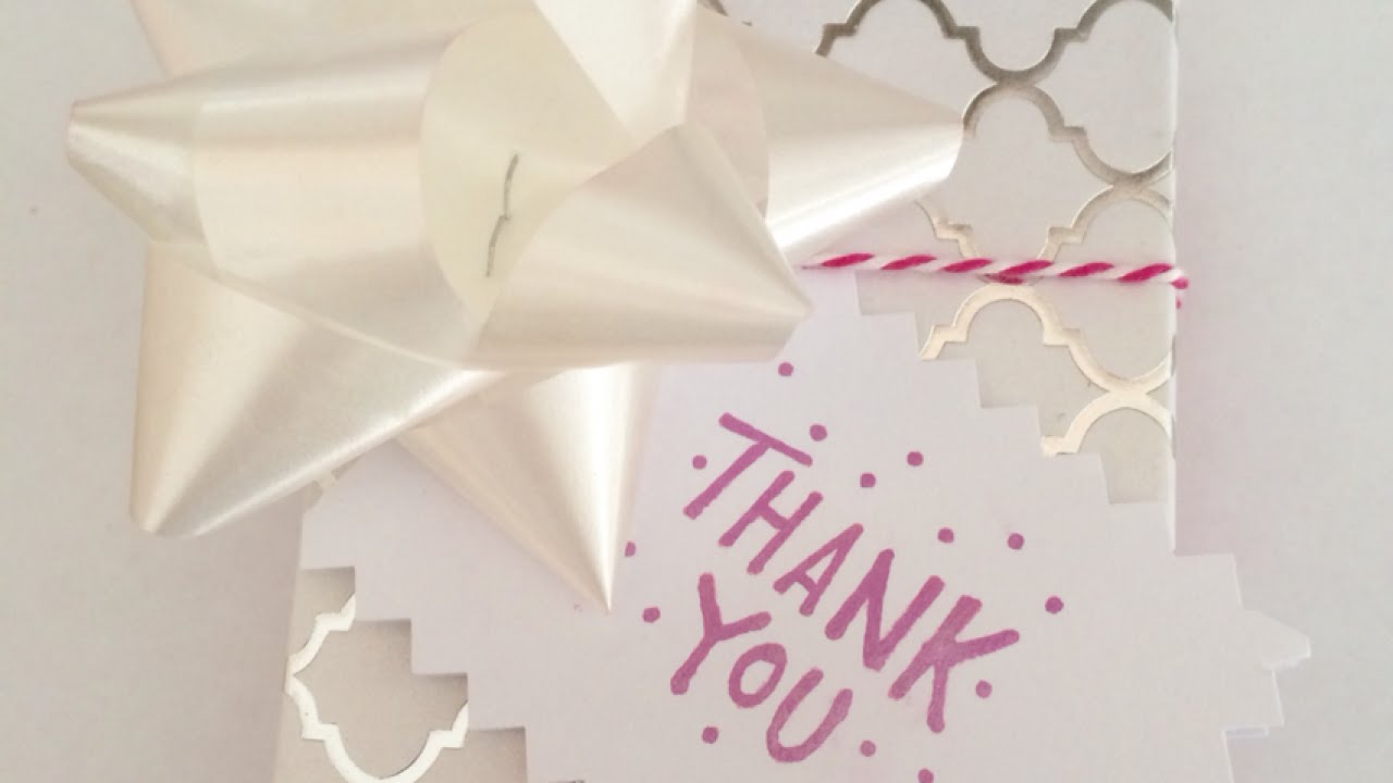 Make a Simple Thank You Gift Tag - DIY Crafts - Guidecentral - YouTube