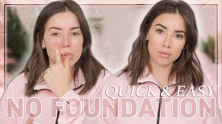 EASY BUT CUTE NO FOUNDATION MAKEUP ROUTINE
