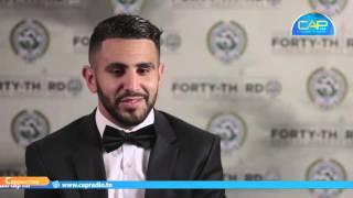 #Café_Sport :رياض محرز  أول لاعب عربي إفريقي يتوج بلقب أحسن لاعب في انقلترا