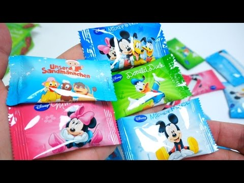 Disney Chocolates Mickey Mouse Donald Duck Minnie Mouse and German Sandman