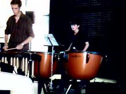 robin mound on kettle drums, + charles nivert , June 2008