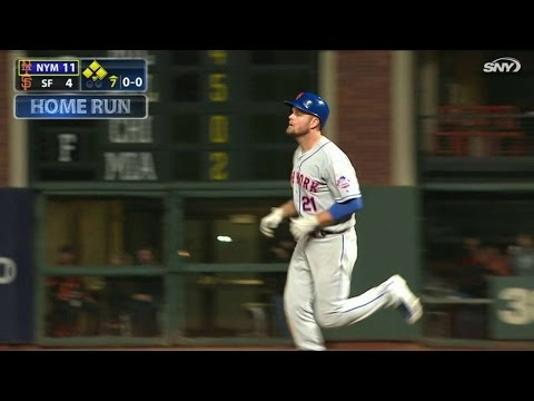 NYM@SF: Duda launches a solo homer to right