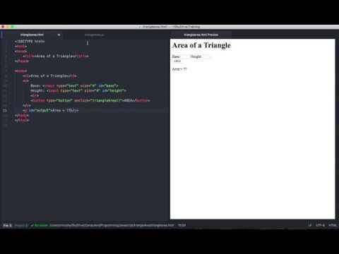 Write An HTML/JS Triangle Area Program With Atom