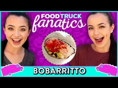 SUSHI BURRITO CHALLENGE | Food Truck Fanatics w/ The Merrell Twins