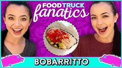 SUSHI BURRITO CHALLENGE | Food Truck Fanatics w/ The Merrell Twins