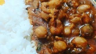 Chole with Garlic Tadka/Lahsuniya chole gravy/Chickpeas curry with lots of Garlic