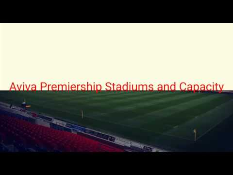 Aviva Premiership Stadiums and Capacity