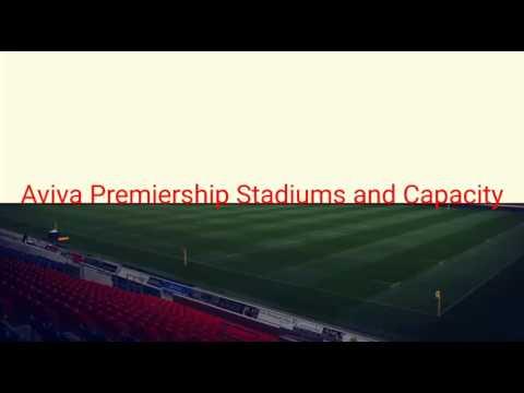 Aviva Premiership Stadiums and Capacity