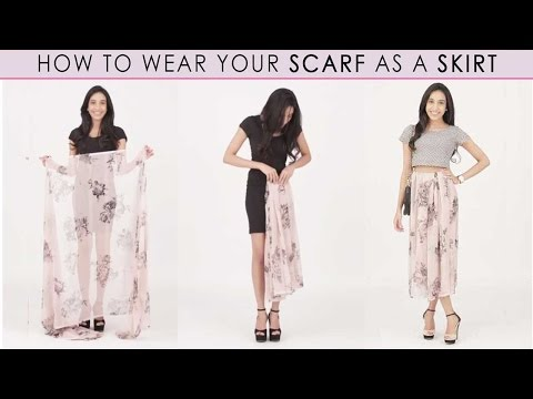How To Wear A Scarf: Style Trick