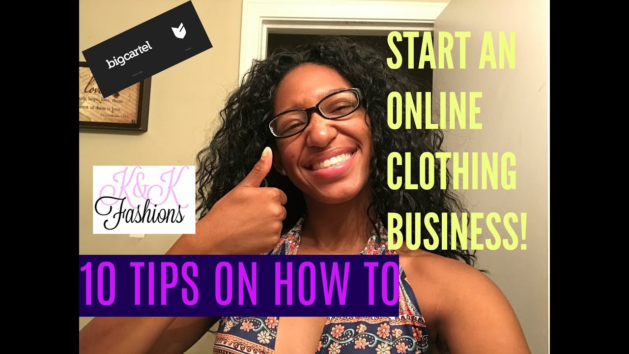 How to start an online clothing business