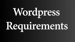 Requirements for WordPress