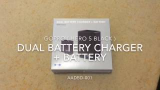 GoPro 5 - Dual Battery Charger + Battery (HERO5 Black) - AADBD-001