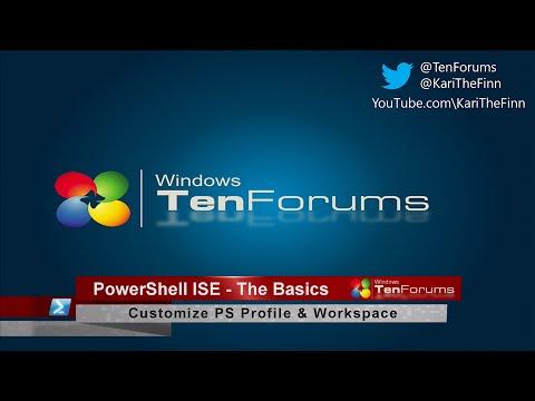 PowerShell ISE - The Basics