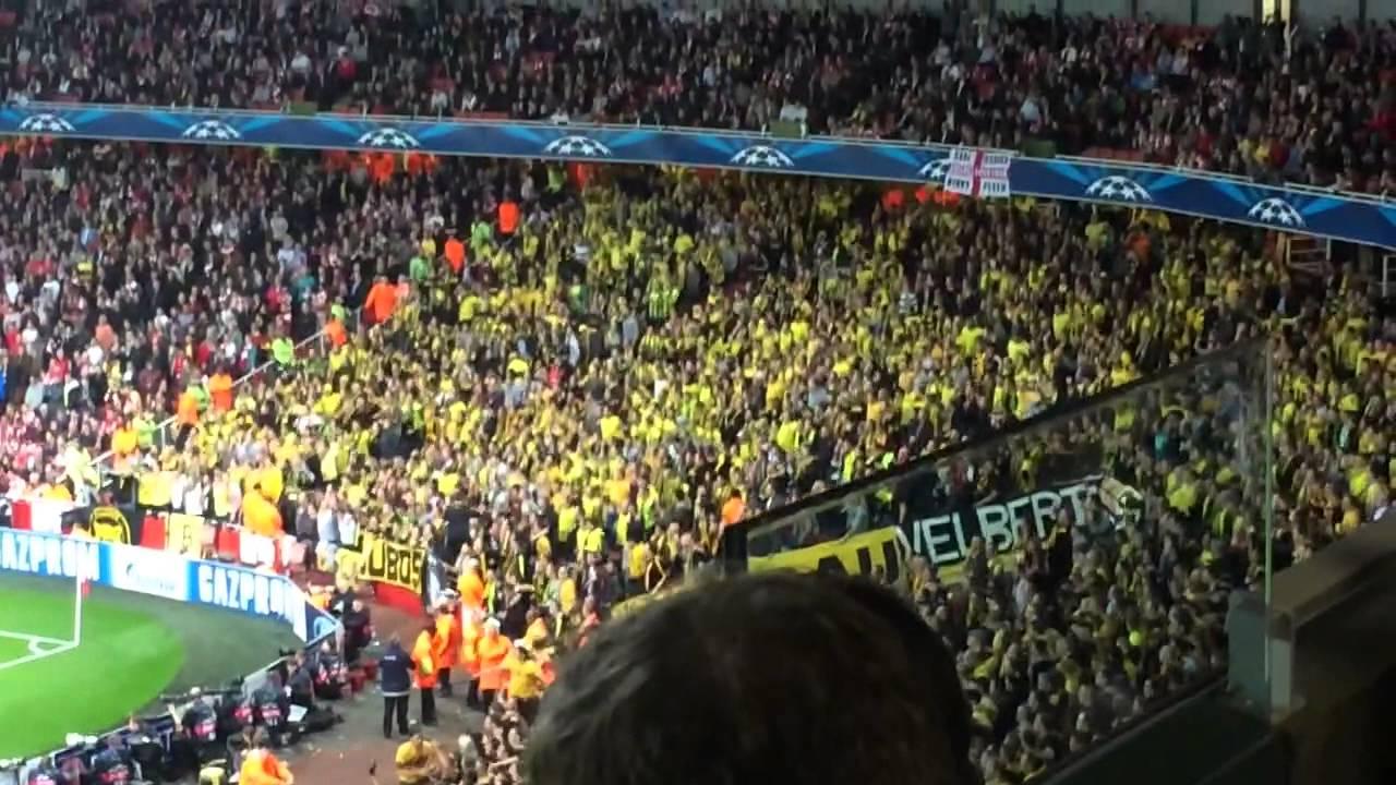 Borussia Dortmund fans at Arsenal UCL 22.10.13 - YouTube