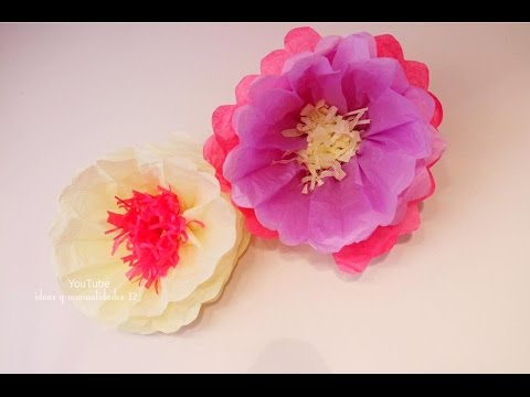 Flores De Papel Crepe Youtube