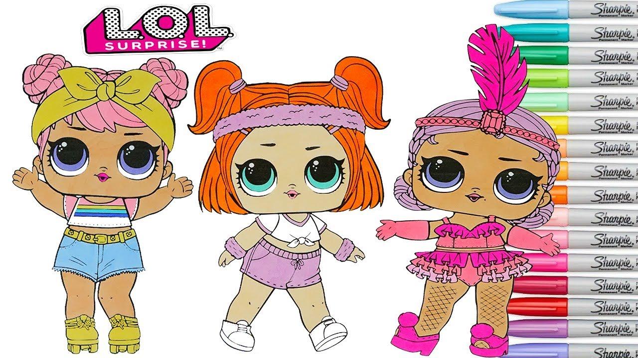LOL Surprise Dolls Coloring Book Pages Dawn Sprints