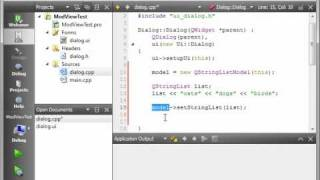 C++ Qt 47 - Intro to model view programming