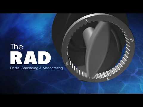 BJM Pumps Patented RAD-AX® Dual Shredding Technology - SKG Series Shredder Submersible Pumps
