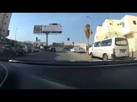 Driving in Jeddah, Saudi Arabia
