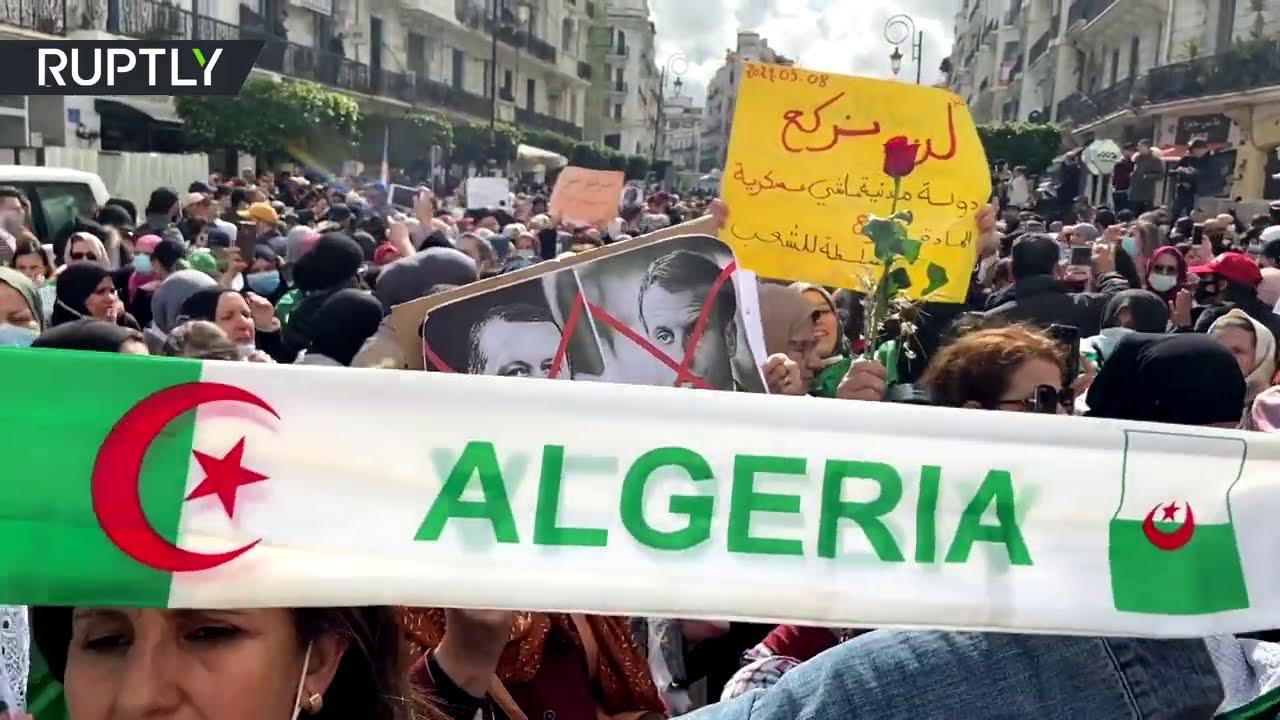 آلاف النساء يشاركن في مسيرة يوم المرأة في الجزائر  - نشر قبل 2 ساعة