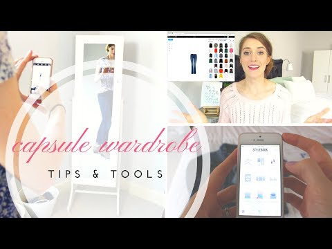Capsule Wardrobe Tips and Tools // How to Organize Your Wardrobe Using  POLYVORE and STYLEBOOK
