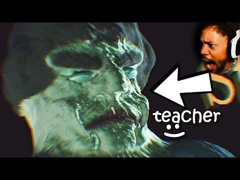THIS IS YOUR TEACHER. YOU CHEAT IN CLASS, YOU DIE   3 Scary Games