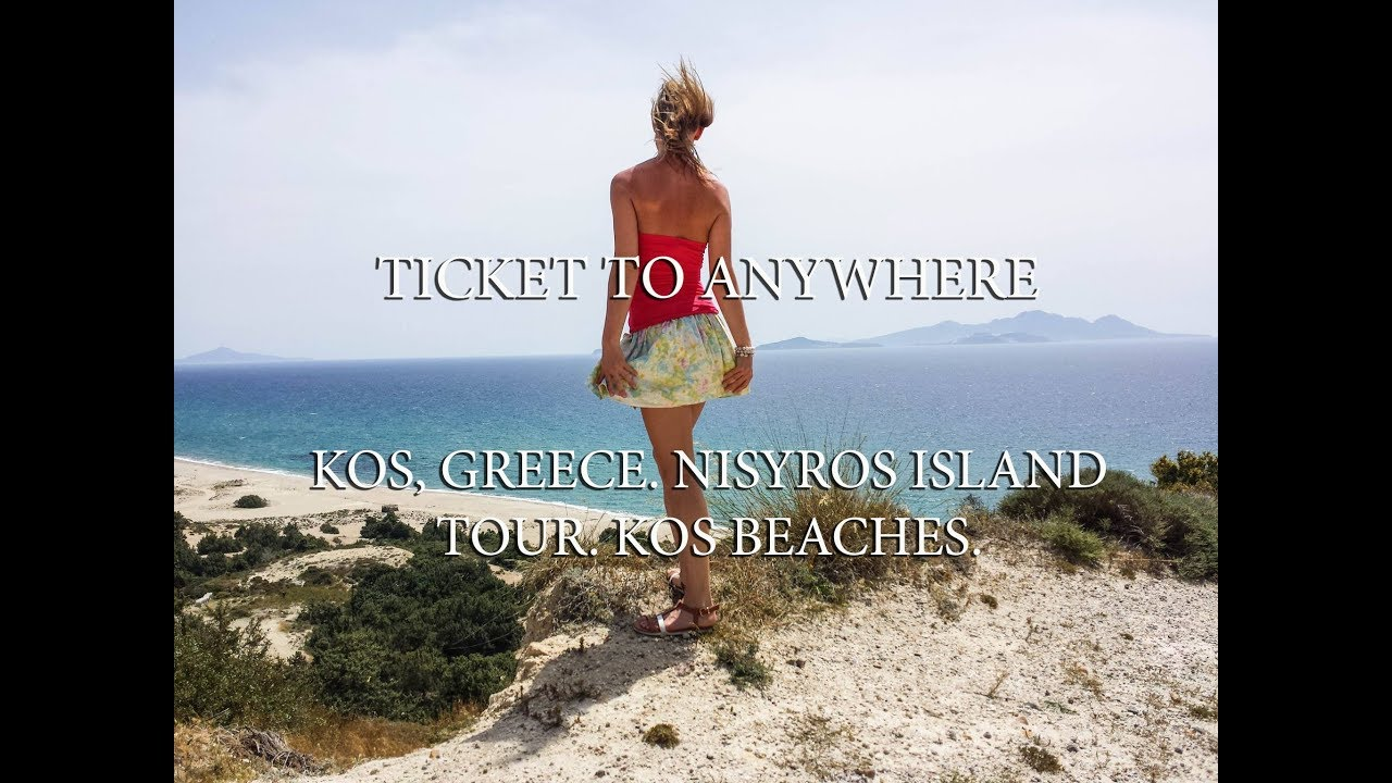 Kos, Greece. Nisyros island tour. Kos beaches. Route map.