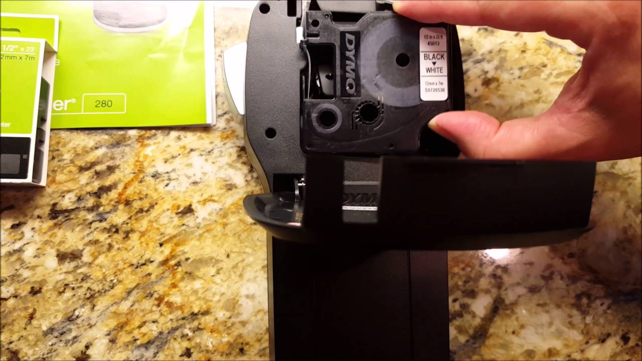 How To Change a Dymo Label Maker Cartridge