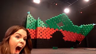 We Pushed Over A GIANT Lego Castle!