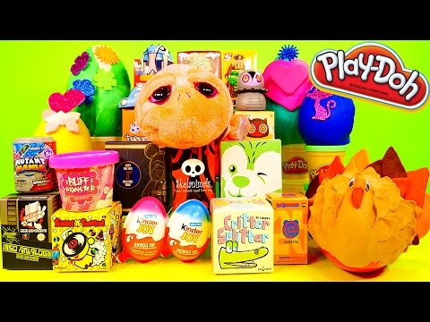 NEW Surprise Playdough Eggs Blind Boxes Opening Bruce Lee Kinder Joy Disney Star Wars DCTC Play Doh