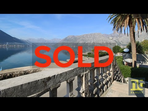 SOLD  Front Line 17th Century Captain's Villa with 8 bedrooms in Dobrota, Kotor SOLD