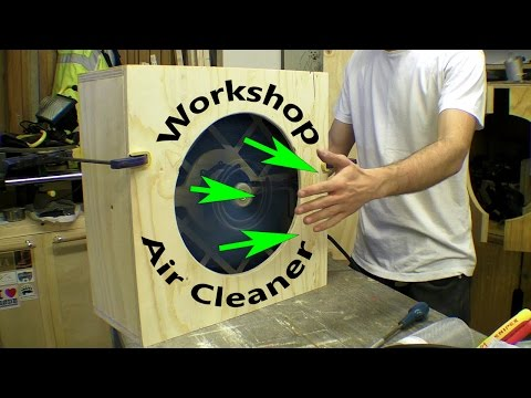 Workshop Air Cleaner / Pleated Dust Filter / Activated Carbon VOC Scrubber Test