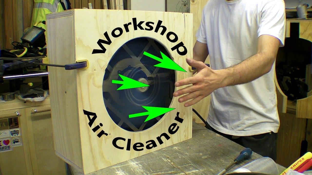 Workshop Air Cleaner Pleated Dust Filter Activated