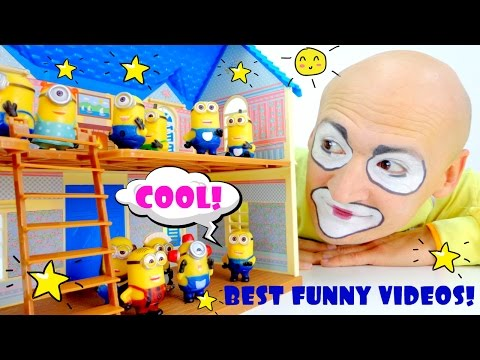 Best Funny videos for kids & kid's games with CLOWN ANDREW! Смешные видео про клоунов
