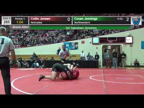 Wrestling - Big Ten Championships: Conan Jennings Pin
