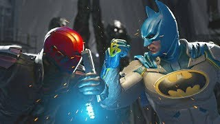 Injustice 2 - Red Hood vs Batman - All Intro Dialogue, Super Moves And Clash Quotes