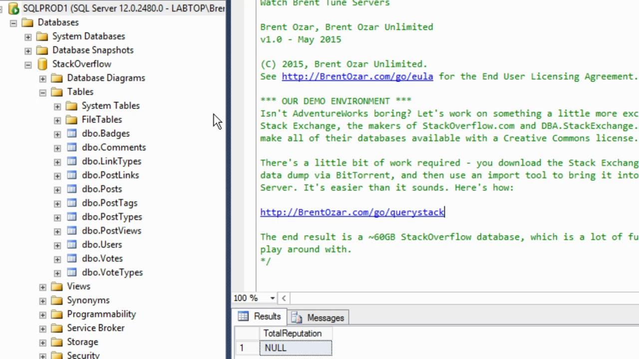 Microsoft SQL Server Performance Tuning, Live