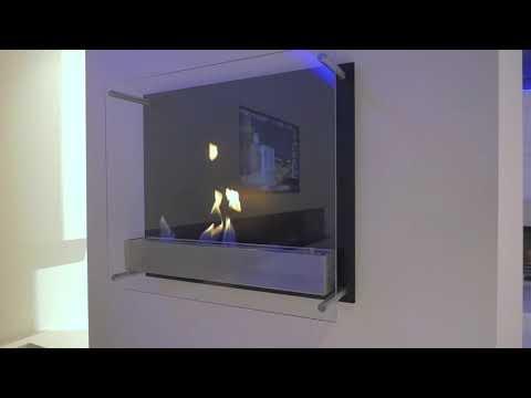 Atlantic   настенный стеклянный биокамин для квартиры от Decoflame в гипермаркете Биокамин.рф