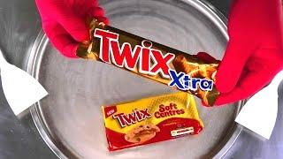 TWIX Ice Cream Rolls | TWIX Soft Centres Cookies roll fried Caramel Ice Cream - satisfying Food ASMR