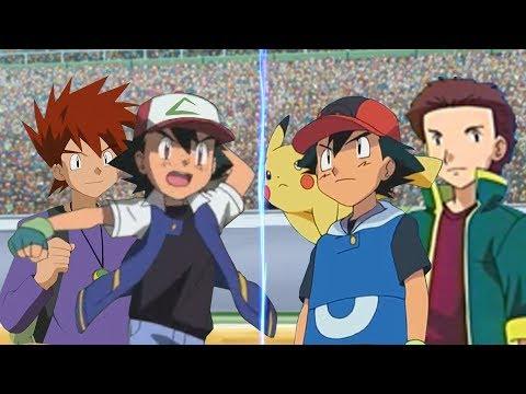 Pokémon Battle USUM: Ash And Gary Vs Ash And Tyson (Pokemon Johto Vs Hoenn)