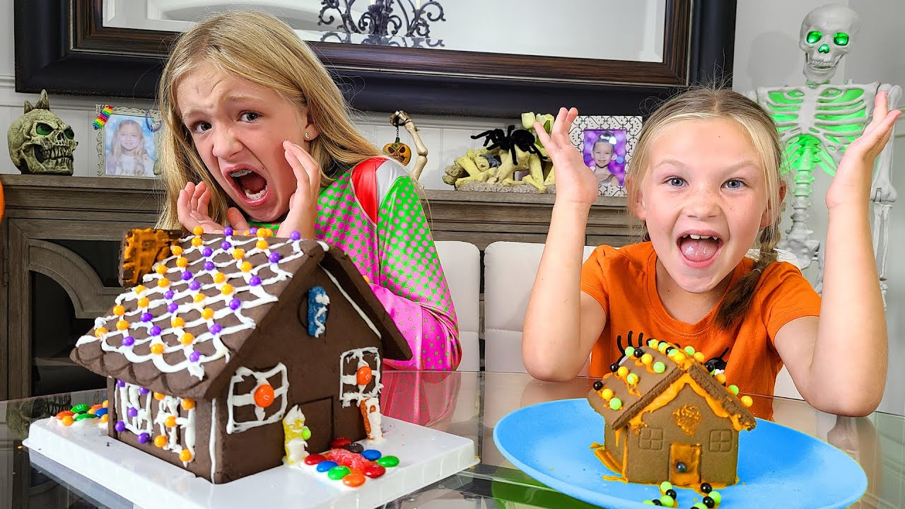 Decorating Haunted Halloween Gingerbread Houses!!!