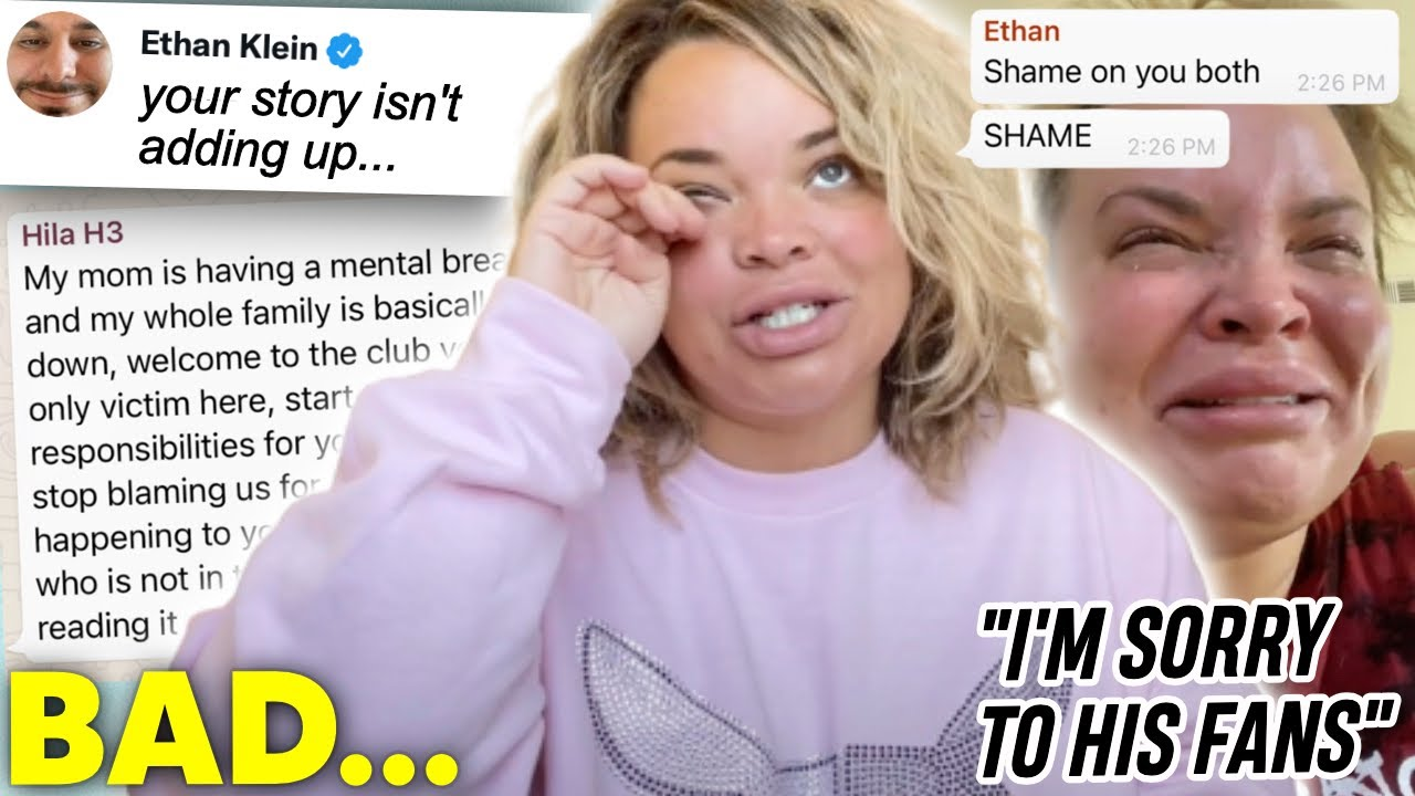 Trisha Paytas BREAKS DOWN over Ethan Klein's messages...
